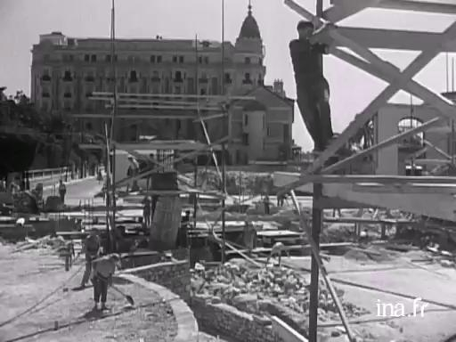 Construction of the Palais des festivals