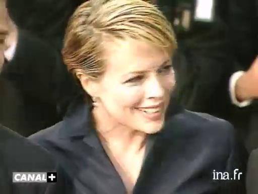 Kim Basinger on the steps of the Palais