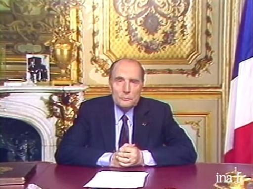 Francois Mitterrand Le Verbe En Images Annonce De La Dissolution