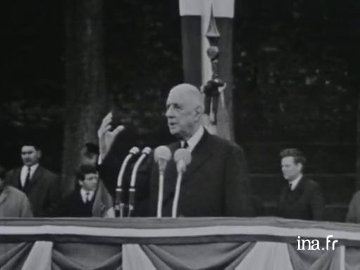 Allocution du général de Gaulle à Quimper