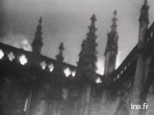 Incendie de la cathédrale à Nantes