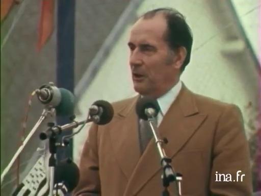 Rentrée politique de François Mitterrand à Lannion |