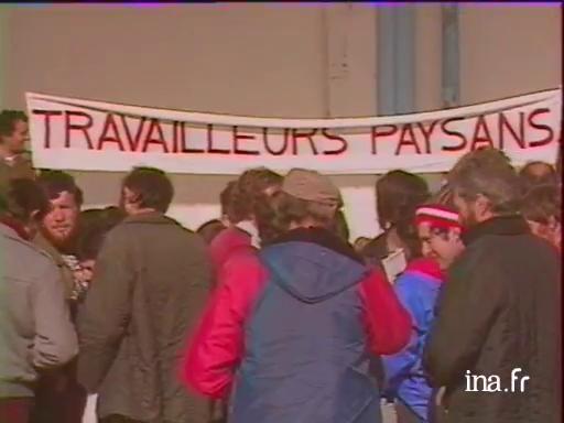 Manifestation des Travailleurs Paysans au Mans |