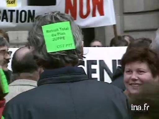 Manifestation à Rennes contre le Plan Juppé |