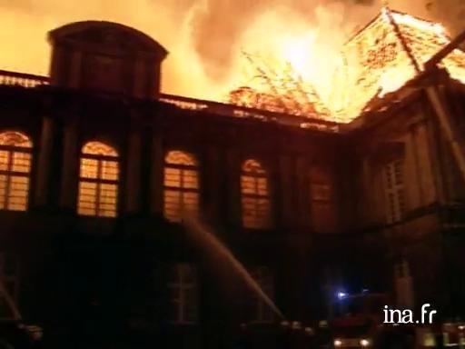 Réactions après l'incendie du Parlement de Bretagne |