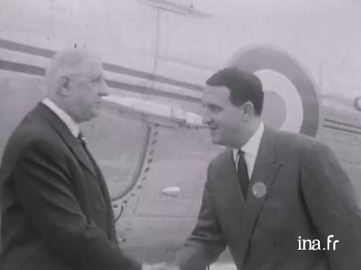 Le général de Gaulle à Pleumeur-Bodou