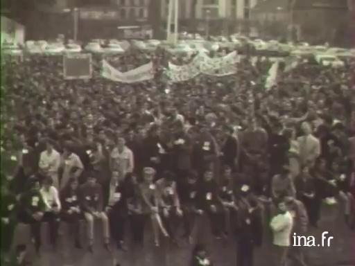 Mai 68: manifestations à Rennes et Brest [Muet]
