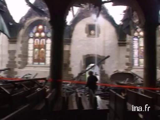 Incendie de l'église de Saint Thégonnec |