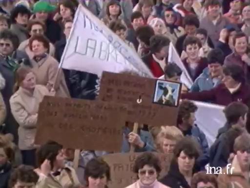 Manifestation d'agricultrices à Saint Brieuc |