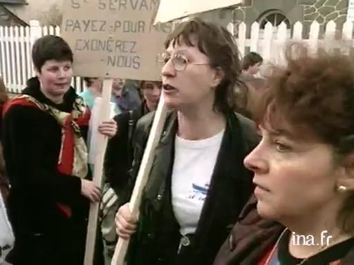 Manifestation des femmes de marins à Saint Malo |