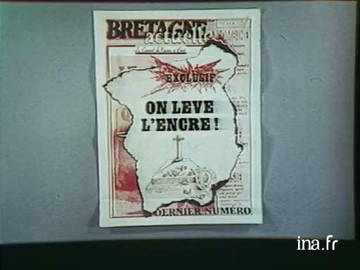 Dernier numéro du journal <i>Bretagne actuelle</i> |